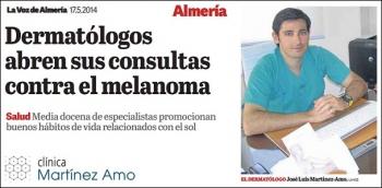 Dermatólogos almerienses abren sus consultas contra el melanoma. Euromelanoma