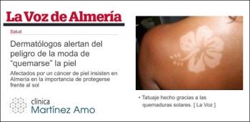 """La nueva y peligrosa moda solar de """"quemarse"""" para tatuar la piel"""